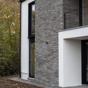 Façade arrière d'une maison contemporaine Richelle