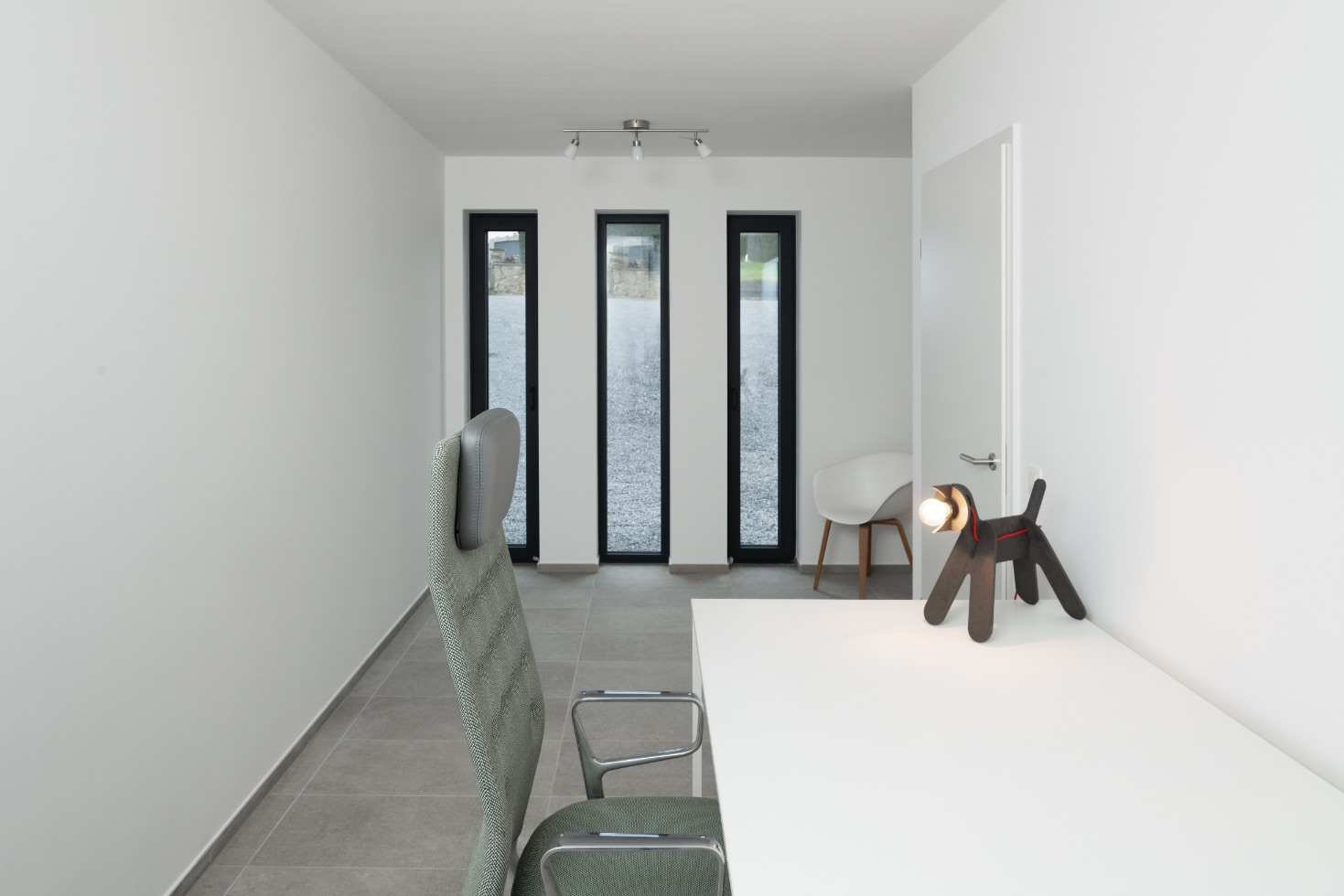 Intérieur d'une construction contemporaine à Esneux