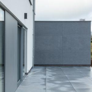 Terrasse d'une construction à Hamois
