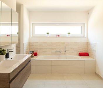 Baignoire de maison contemporaine à Spa