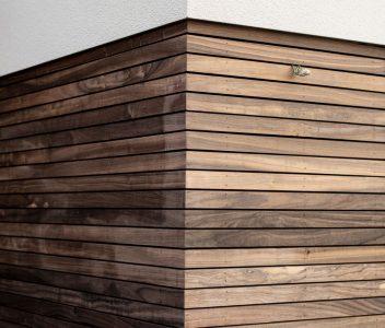 Bardage bois d'une maison contemporaine