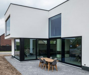 Façade arrière d'une maison contemporaine